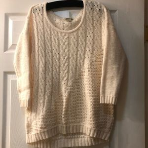 LUCKY BRAND live in love cable knit sweater
